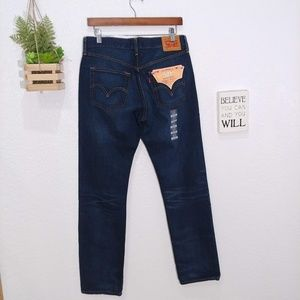 Levi's 501 staight leg button fly dark wash Jeans